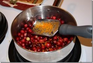 cran sauce making