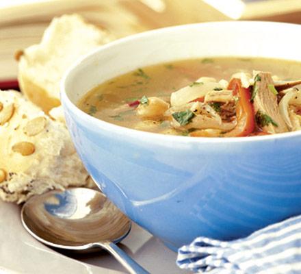 Thanksgiving Leftover Turkey Soup