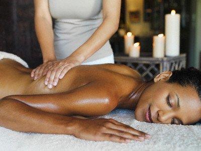 Ebony mom massage