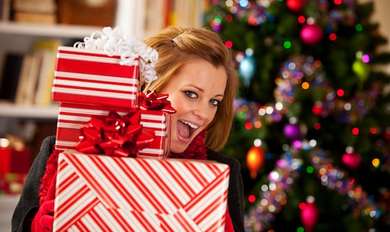 woman-holiday-presents